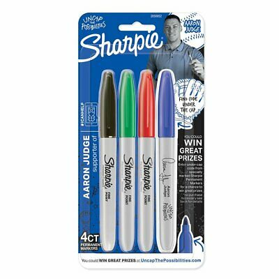 Sharpie Permanent Markers Fine Point Assorted Colors 4-count Aaron Judge