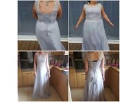 5x stunning silver bridesmaid dresses never been used