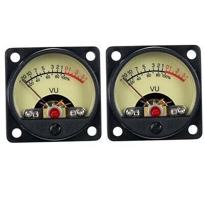 2 Pcs Vu Panel Meter Vu Audio Level Amp With Warm Back Light Recording Tr-35