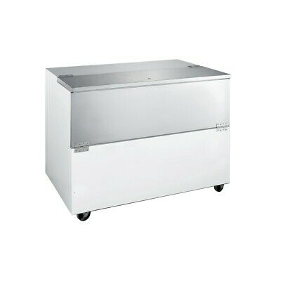 School Milk Cooler - Cafeteria Buffet Carton Refrigerator - 12 Crates
