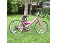 Girl's Bicycle. Specialized Hotrock. Suitable for ages 5-9.