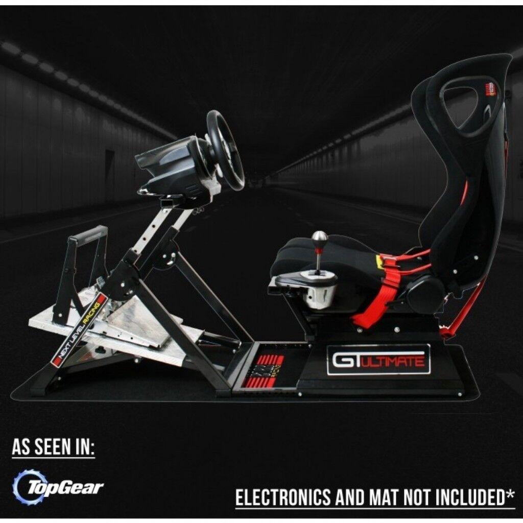 Gtultimate V2 Racing Simulator Cockpit Gaming Chair Logitech G27 Next Level Pagnian Floormat