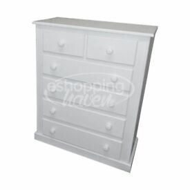 Handmade Sandra 4+2 Chest Of Drawer White (Assembled) ANY COLOUR/ SIZE