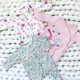 Sleepsuits tiny baby/newborn excellent condition