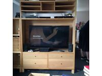 Beech Ikea Television / Entertainment stand