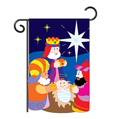 Three Kings - Winter Nativity Applique Garden Yard Banner House Flag