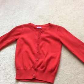 Beautiful red cardigan age 4-5 ideal for school