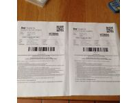 Victorious tickets X 2 ( Sunday)