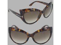 New Rare Tom Ford Bardot Sunglasses in Shiny Brown Tortoiseshell - RRP £259 Authenticity Guaranteed