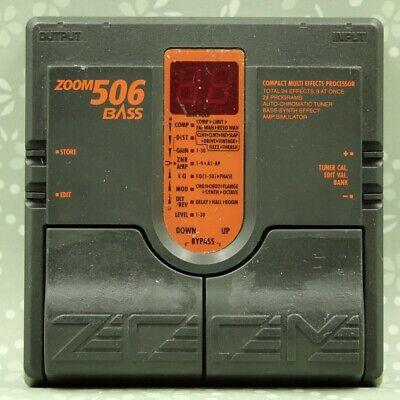 ZOOM 506 Bass Compact Multi Effects Processor pedal Free shipping (090726) comprar usado  Enviando para Brazil