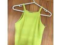 NEW LOOK PRETTY LIME GREEN CROP TOP