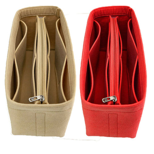 multi pocket women insert bag felt fabric