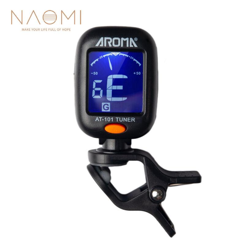 NAOMI AROMA AT-101 Electric Guitar Tuner Foldable Rotating Clip High Sensitivity