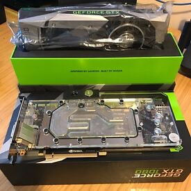 Nvidia GTX 1080 Founders Edition + EKWB mono block & back plate = Water cooled