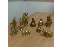 10 Assorted Brass Figurines