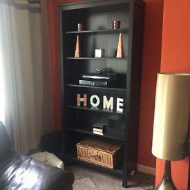 IKEA living room furniture dark brown