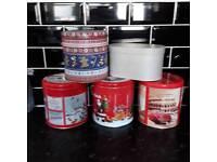 Christmas empty tins