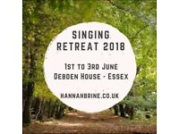 Singing Retreat at Debden House, Essex