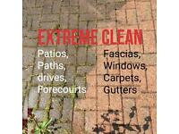 Extreme clean. Patios paths, driveways, carpet cleaning,