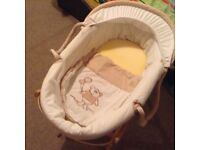 Moses basket with stand, very good condition