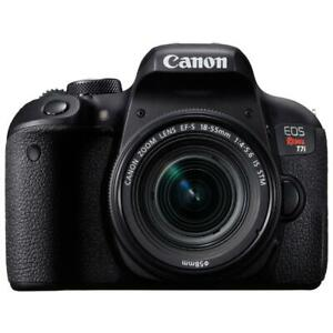 Store Sale - Canon EOS Rebel T7i DSLR Camera with 18-55mm Lens, Brand New In Box