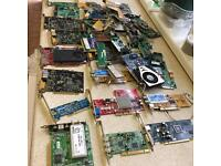 JOBLOT Video Cards & Sound Cards Untested Spares or repair