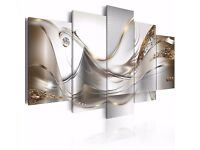 5 Panel Canvas Wall Art. New and packaged. Collection only.