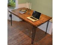 Industrial hairpin leg beautiful dining kitchen table