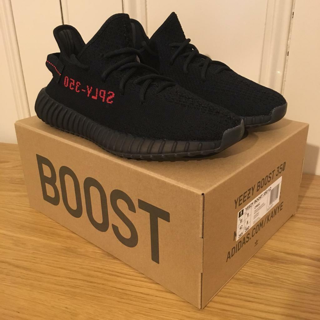 4d374a5be ... amazon adidas yeezy boost 350 v2 bred size uk 8 black red be9ff 9bc47