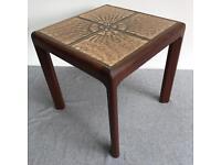 Vintage Teak, tile topped Side table