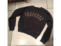 Trapstar dark grey jumper size small