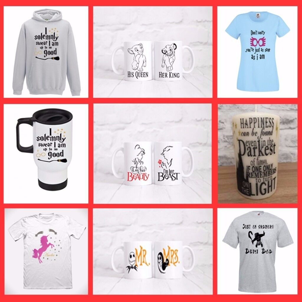 Fun prints for you, mugs, cushion covers, candles, and t'shirts, Great gifts for any occasion.