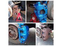 Painting brake calipers