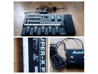 Boss Gt8 effects processor, marshall footswitch & Beringher crossover