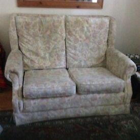 2 2 seater fabric sofas