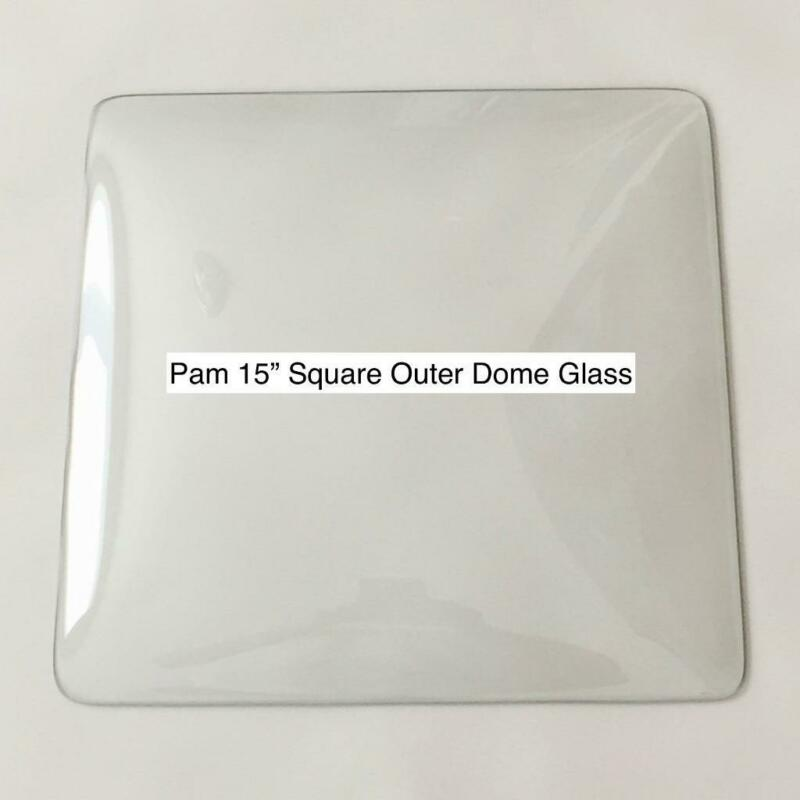 """Pam Clock 15"""" Square Replacement Clear Glass Lens Dome"""