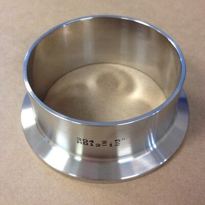 2.5 Tri Clamp Sanitary Weld Ferrule Long T304 Stainless New