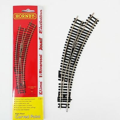 R8075 Hornby Railway Accessories - Right-Hand Curved Point OO Gauge NEW