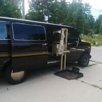 1991 Ford Van with a Wheelchair Lift