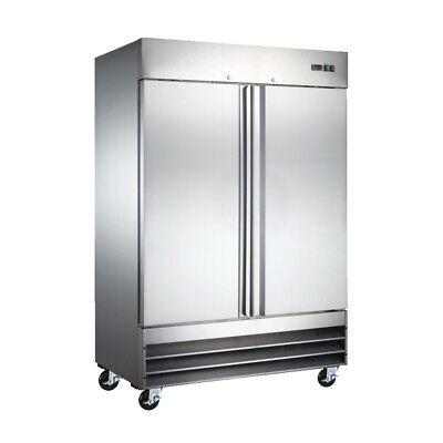 Peakcold 54 Commercial Reach In 2 Door Stainless Steel Restaurant Refrigerator