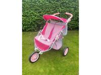 Toy pushchair double buggy/twin dolls