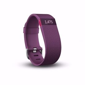 Fitbit Charge HR Heart Rate and Activity Wristband, Plum colour - Brand New