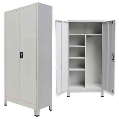 Locker Cabinet With 2 Doors Steel 35.4x15.7x70.9 Gray