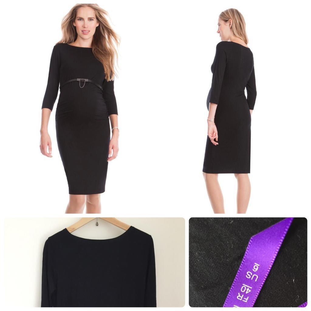 96677314e7569 Seraphine Black Maternity Pregnancy Shift Dress Size 10 - GC | in ...