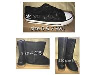 Ladies pumps and boots ugg adidas