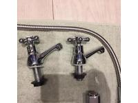 Bath Taps inc Shower Handle + Sink Taps