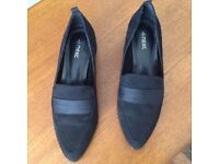 Ladies pointed loafer shoes from Next size 4