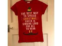Christmas Buddy the Elf Festive Red T Shirt