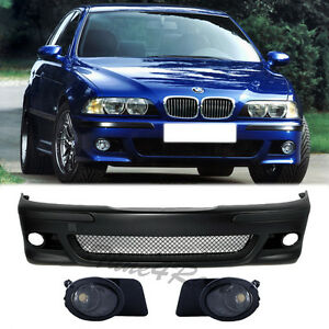 97-03 BMW E39 5-Series M5 Style Front Bumper + Clear Fog Lights Factory M NEW