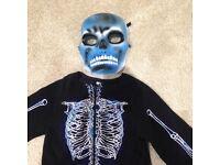 Glow in the dark skeleton costume, 3-4 years